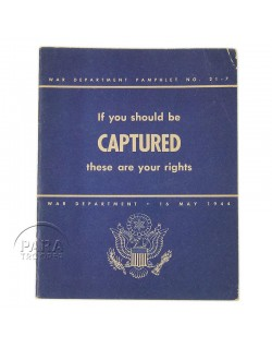 "Booklet, ""If you should be captured"""