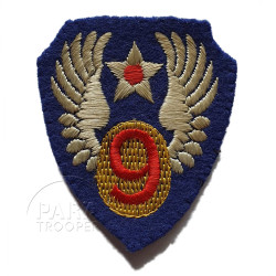 Patch, 9th Air Force, British Made