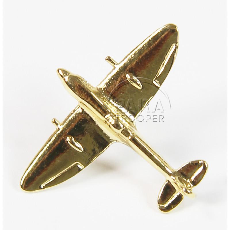 Pin's Avion, Spitfire, Plaqué Or