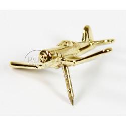 Pin's Avion, Corsair F4U, Plaqué Or