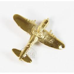 Pin's Avion, Thunderbolt P-47, Plaqué Or