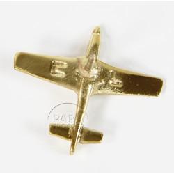 Pin's Avion, Mustang P-51, Plaqué Or