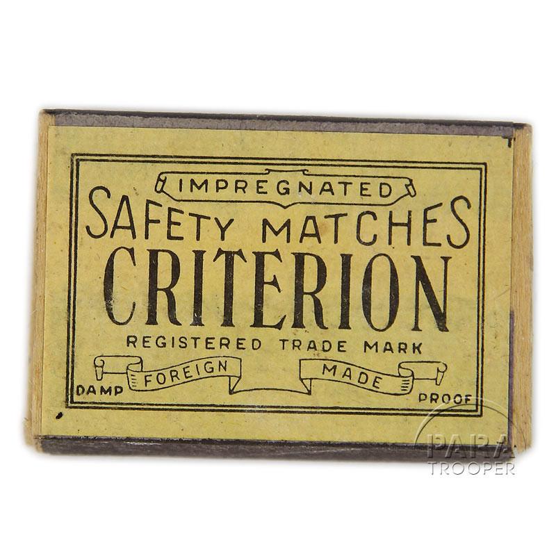 Matchbox, Safety Matches, Criterion
