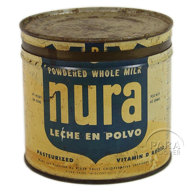 Boîte de lait en poudre, Nura, vide