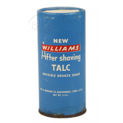 Boîte de talc après-rasage, Williams, 3 oz.