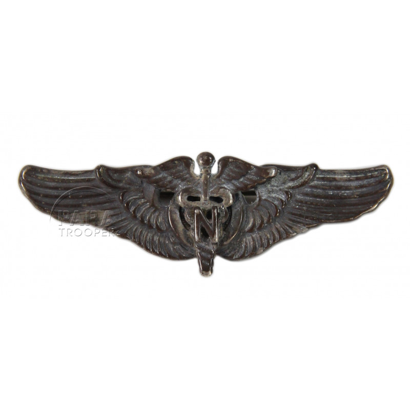 Flight nurse wings, Miniature, Sterling