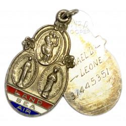 Médaillon catholique US Army nominatif, 1943