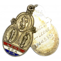 Medal, Catholic Miraculous, named, 1943