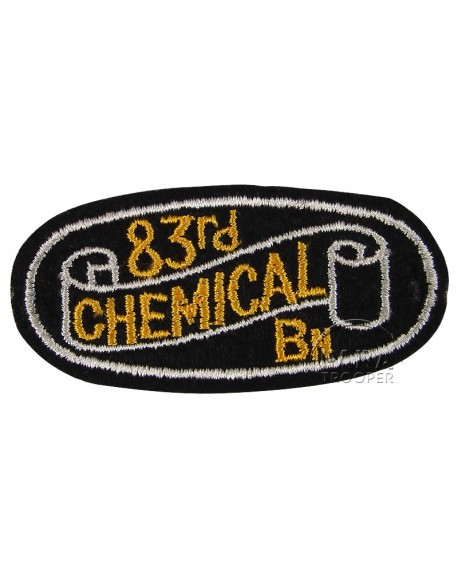 Insigne 83e bataillon de mortier chimique