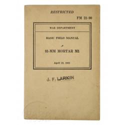 Field Manual 23-90, Mortar 81 mm, Named