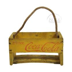 Casier à bouteilles, bois, Coca-Cola
