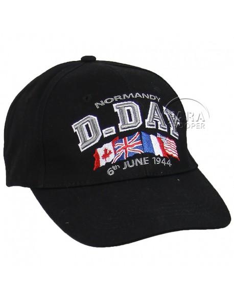 Casquette, D-Day Normandy, noire