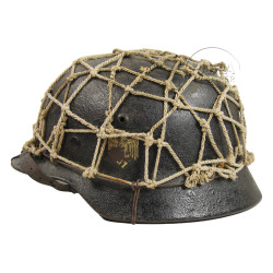 Helmet, model 40, Wehrmacht with net, Normandy, named