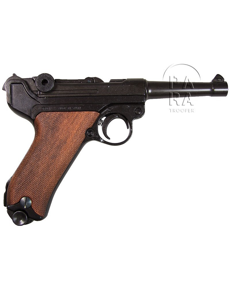 Pistol Luger P 08 Wooden Grips Paratrooper