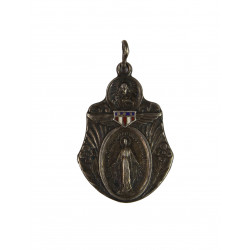 US Army Chaplain WWII Catholic Miraculous Medal, Sterling