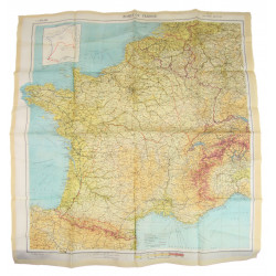 """Map, """"Zones of France"""", 1944"""
