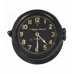 U.S. Maritime Chelsea Ships Bell Clock, c1943