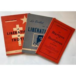 Ensemble de livrets Libération de Troyes, 1945