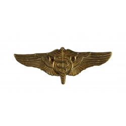 Flight Surgeon wings, Gold plated Sterling