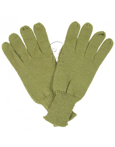 Gants en laine moutarde