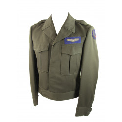 "Jacket, Ike, 8th USAAF Officer, dark OD green ""chocolate"", Bombardier"