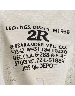Leggins canvas M-1938, white, MP