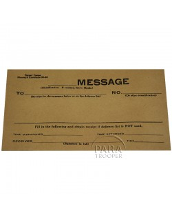 Envelope, M-40, for message, US Army Signal Corps