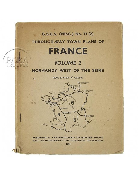 """""""Through-Way Town Plans of FRANCE"""", Vol. 2"""