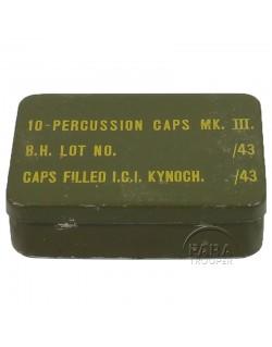 Caps, Percussion, MKIII, tin