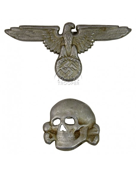 Set d'insignes, casquette, Waffen SS