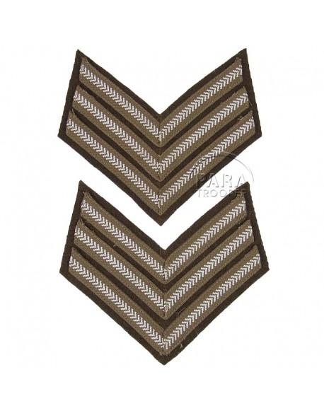 Paire de grades de Sergeant