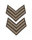 Paire de grades de Sergeant britanniques