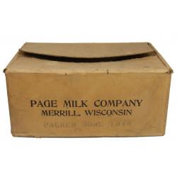 Caisse de ration, Lait en poudre, 1944
