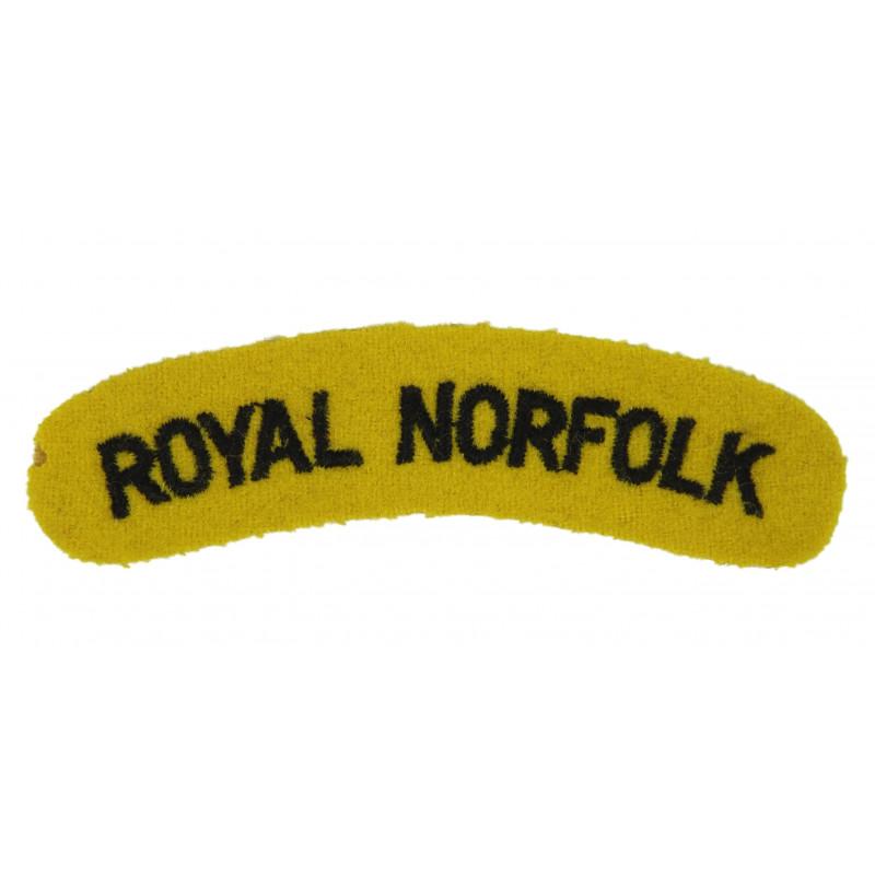 Shoulder Title, Royal Norfolk