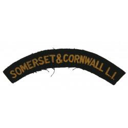 Shoulder Title, Somerset & Cornwall Light Infantry