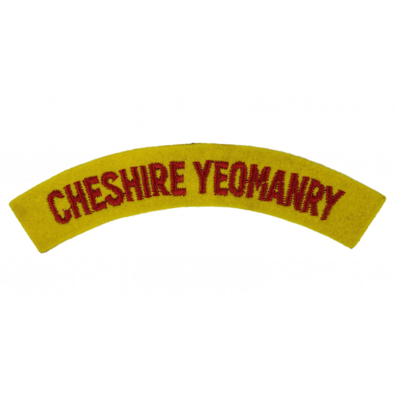 Shoulder Title, Cheshire Yeomanry