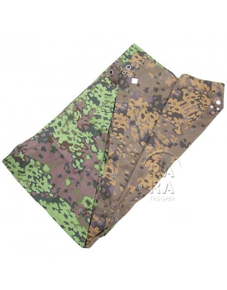 Zeltbahn, poncho camouflé feuilles de chêne