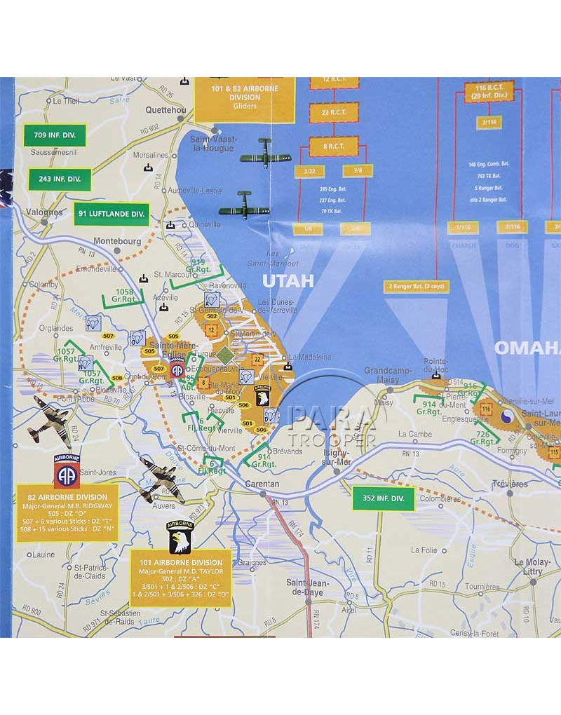 Map D Day Th June The Battle Of Normandy