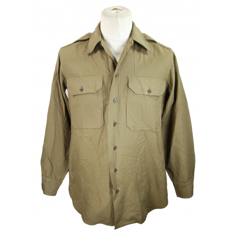Shirt, Flannel, OD, 15 x 33