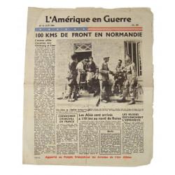 Newspaper, L'Amérique en Guerre, Normandy, June 14, 1944
