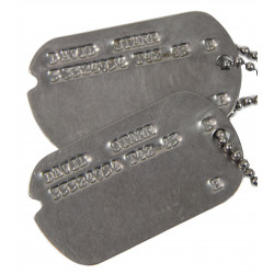 Grouping, Dog Tags, David Starr, 1942