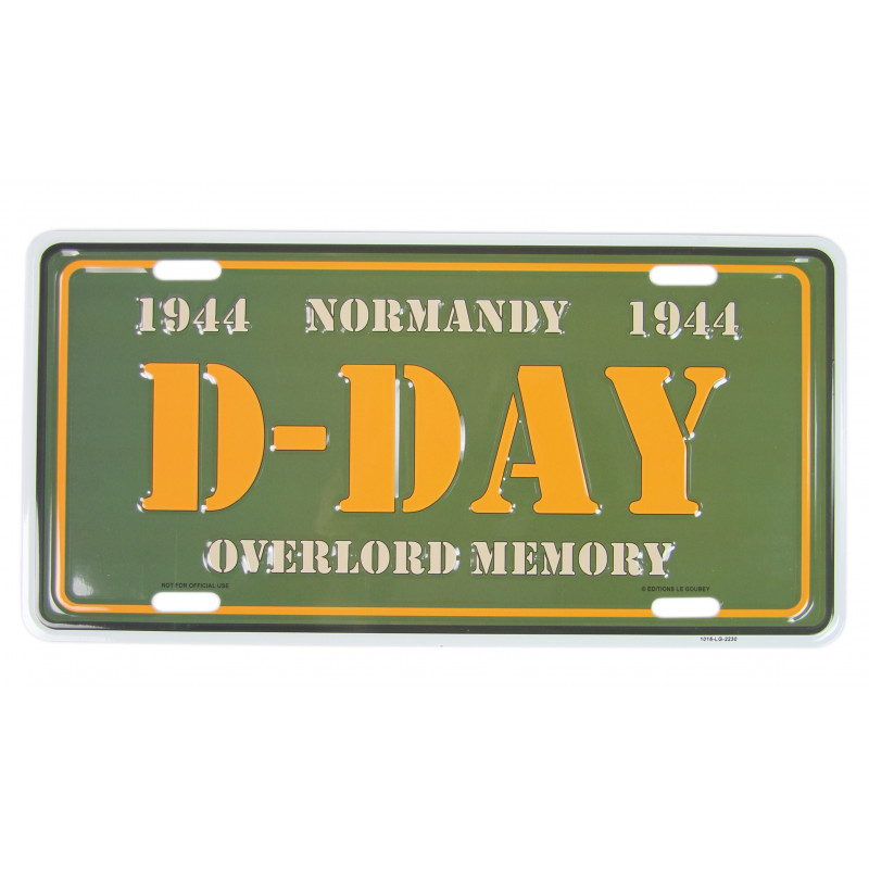 D-Day Overlord Memory, Vehicle Plate
