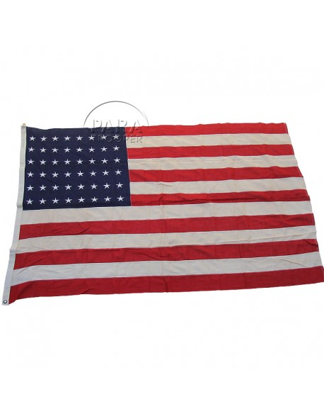 Flag, US, 48 stars, cotton