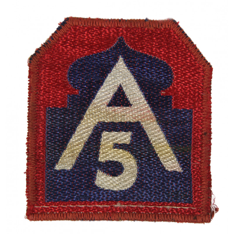 Patch, Fifth US Army, Italian made