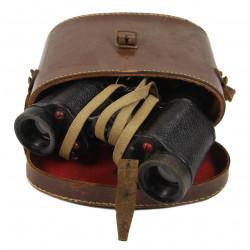 Binoculars, N°2 MKIII, 1943, with leather carrying case