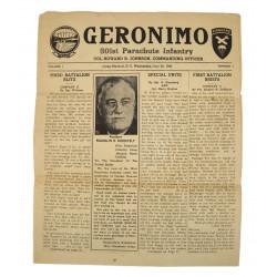 Newspaper, GERONIMO, 1943, 501st PIR, Coll Ray Geddes