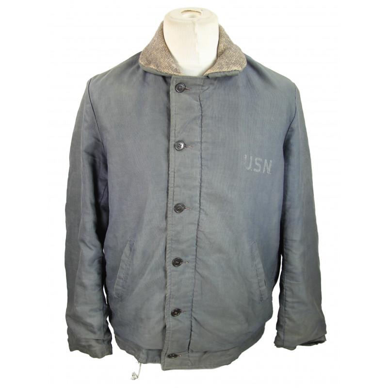 Jacket, Zip, Deck, US Navy, Named
