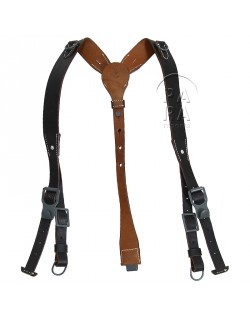 Suspenders, Field, Leather, luxe