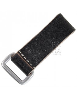 Loop, leather belt, German