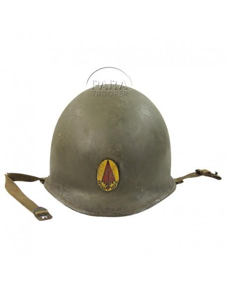 Helmet, complet, USM1, Officer, 3rd Armored, ETO